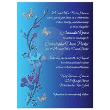 royal blue wedding invitations wedding invitation royal blue turquoise mauve flowers silver