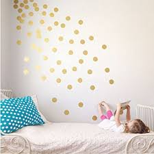 easy peel stick gold wall decal dots 2 inch 200