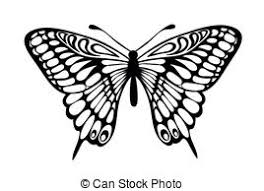 black white butterfly clip vector graphics 9 088 black white