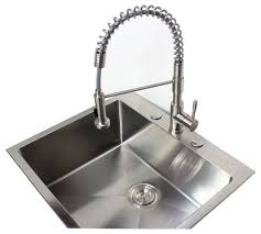 stainless kitchen faucet awesome ariel coil stainless steel made lead free pull out