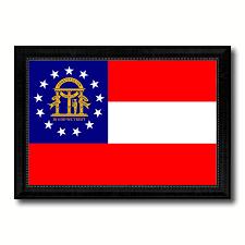 State Flag Georgia Georgia State Flag Home Decor Office Wall Art Livingroom Interior
