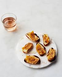 persimmon and brie crostini martha stewart living these