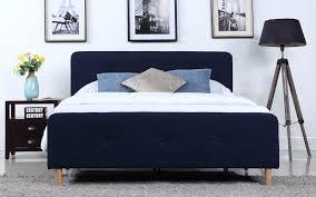 Blue Bed Frame Sofa Mania Affordable Modern Bed Frames Sofamania