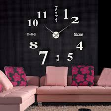 Small Decorative Wall Clocks Furniture Room Decor With Small Black Table And Small Black