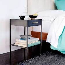 night stand metalwork nightstand with handle hot rolled steel finish west elm