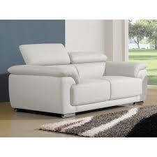 canapé cuir blanc pas cher design 2 places cuir blanc