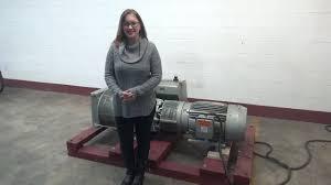 busch rotary vane vacuum pump demonstration youtube