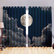 Kids Blackout Eyelet Curtains Blackout Fabric 3d Printed Curtains Eyelet Ready Made Ring Top