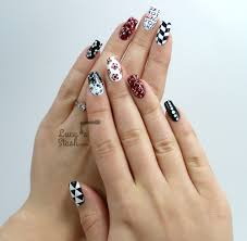mix u0026 match red black u0026 white nail art design lucy u0027s stash
