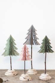 Paper Christmas Ornament Crafts Best 25 Christmas Tree Paper Craft Ideas On Pinterest Paper