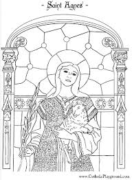 Catholic Saint Coloring Pages Funycoloring Saints Colouring Pages