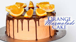 orange marmalade cake with chocolate ganache youtube
