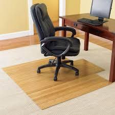 bamboo chair mat office chairmat rollup computer carpet