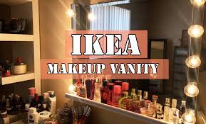 Ikea Makeup Vanity by Diy Ikea Makeup Vanity Youtube