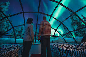 spend the night in a glass igloo under the northern lights