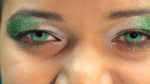 emerald green contact lenses youtube