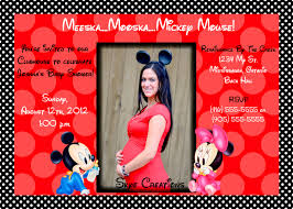 Mickey Mouse Invitation Cards Printable Mickey Mouse Baby Shower Invitations Printable Theruntime Com