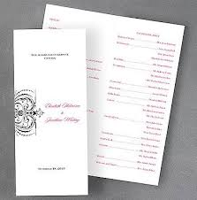 scroll wedding programs scroll wedding program