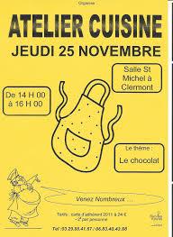 affiche atelier cuisine atelier cuisine par l association familles rurales ot pays d