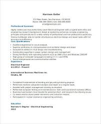 Sample Electronics Engineer Resume by Free Engineering Resume Templates 49 Free Word Pdf Documents