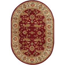 artistic weavers john red 8 ft x 10 ft oval area rug jhn 1022
