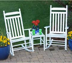 dixie seating 3 pc xl rocking chair set with sidetable white