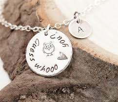 custom engraved necklace message necklace custom engraved necklace with owl aftcra
