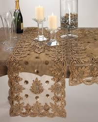 table setting runner and placemats beaded table linens beaded table runner gold table settings table