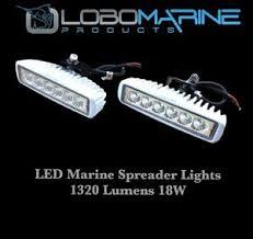 marine led spreader lights lobo marine led spreader flood light set 18w 12v 1320 lumens boat t