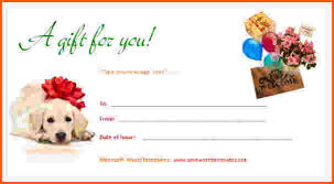 8 gift certificate template word survey template words