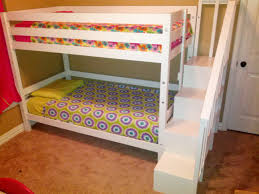 Wooden Bunk Bed Ladder Plans by Ana White Classic Bunk Bed With Sweet Pea Stairs Diy Projects