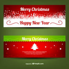 merry banner templates vector free