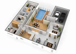 floor plan 3d house building design best of 3 bedroom bungalow house plans 3d house plan