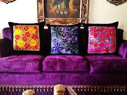 colorful pillows for sofa mexican cushions purple sofa brighter purple than yours but