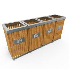 Furniture Recycling by Boras S Modern Design Stainless Steel Recycling Bins With Wood