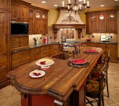 Chandelier Over Kitchen Island by Kitchen Room Design Ideas Kitchen Beautiful Tuscan Kitchen