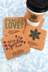 square christmas cork board drink coasters