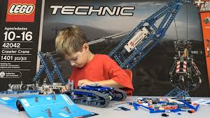 lego technic crawler crane 42042 build in 3 minutes play kids toy