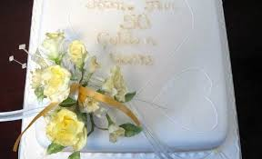 golden wedding cakes cakes and al golden wedding cake