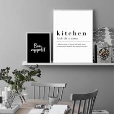 black and white prints for kitchen kitchen dining room wall prints decorative pictures