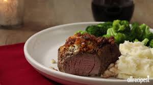 Salt Crusted Beef Tenderloin by Blue Cheese Crusted Filet Mignon With Port Wine Sauce Recipe