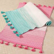 Ombre Bath Rug Pb To Sunset Bath Mat Bright Pink At Pottery Barn