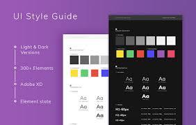 Two Dark Ui - ui style light dark xd resources