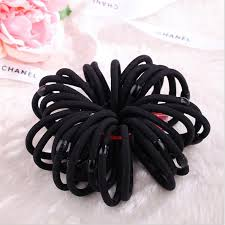 high quality black elastic ponytail holder rope hair ornaments