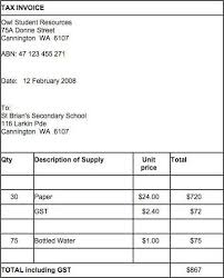 invoice sample australia australian invoice template issuing tax