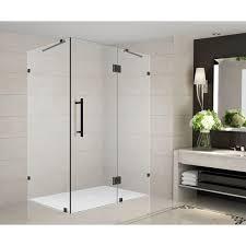 40 Shower Door Aston Avalux 40 In X 36 In X 72 In Completely Frameless Shower
