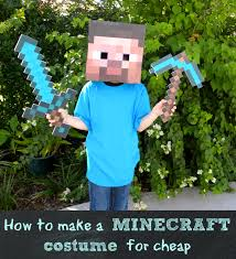 party city halloween costumes minecraft how to make a minecraft steve costume for less than 10