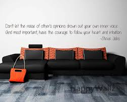 compare prices on custom wall decals quotes online shopping buy steve job motivational quote wall sticker don t let the noise diy inspirational lettering quote