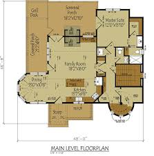 floor plans with porches small cottage house plan with loft tale cottage