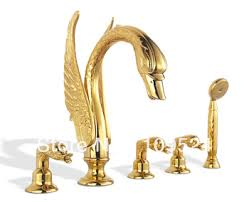Swan Faucet Gold Swan Faucet Gold Prestige Baroque Faucet Thg 85off Rozin